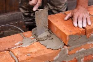 Pedreiro edifício tijolo parede
